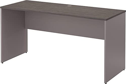 Bush Furniture Commerce 60W Credenza Desk in Cocoa and Pewter