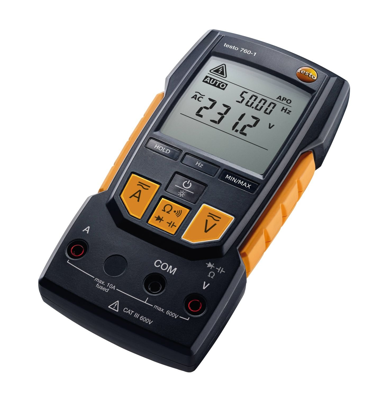 Testo 0590 7601 760-1 Digital Multimeter, 2'' Height, 3'' Width, 7'' Length by Testo (Image #1)