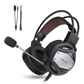 TeckNet Auriculares Gaming PS4 Xbox One, 3.5mm Stereo Cascos Gaming para Auriculares con Cancelación