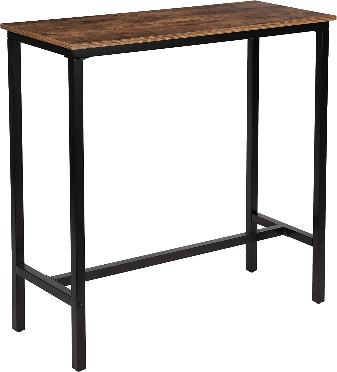 """KOZYSPHERE 39.5"""" Pub Bar Table with Metal Frame, Pub Height Table Bistro Table Mini-Buffet Table Stand Desk Entry Way Table for Dining Room,Living Room (Indoor USE ONLY): Kitchen & Dining"""