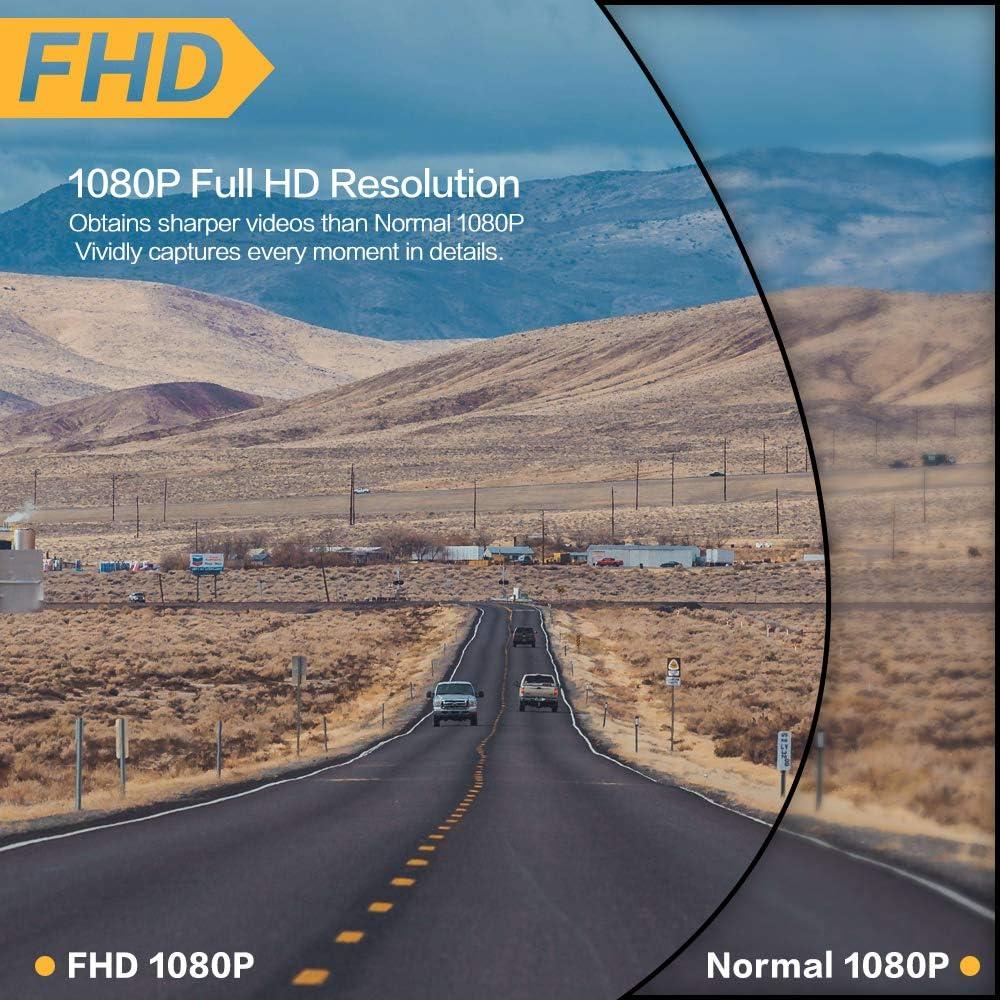 Nachtsicht 3,0-Zoll-Bildschirm Dual Lens Drive Recorder mit SD-Karte Bewegungserkennung 1080P Full HD Dash Cam Auto-Front- und Heckkamera Schleifenaufnahme G-Sensor 170 /° Weitwinkel WDR