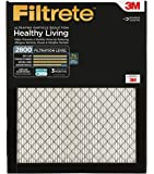 Filtrete MPR 2800 16 x 25 x 1 Ultrafine Particle Reduction AC Furnace Air Filter, Delivers Cleaner Air Throughout Your Home, Attracts Fine Inhalable Particles like Bacteria & Viruses, 2-Pack