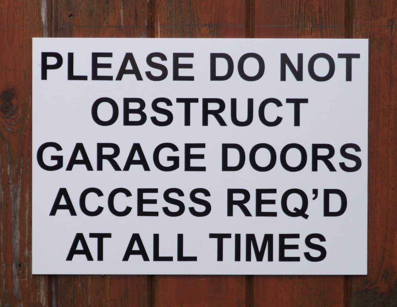 Blue Clearview Signs A4 PLEASE DO NOT OBSTRUCT GARAGE DOORS Size 297mmx 210mm x3mm