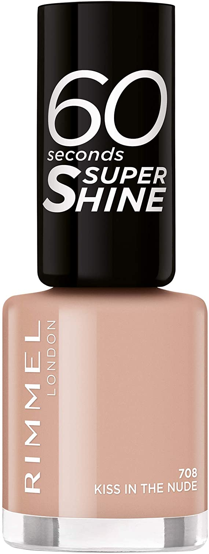 Rimmel London 60 Seconds Super Shine #708-Kiss in The Nude - 1 unidad