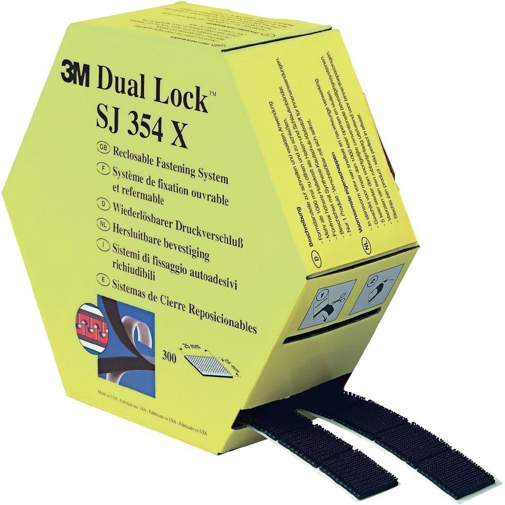 3M Sistema de Cierre SJ-457D, Bajo Espesor, 25 mm x 10 m, 1 unidad 1unidad SJ457D gancho y bucle^cinta de bucle^cierres desmontables^dual lock^cierre