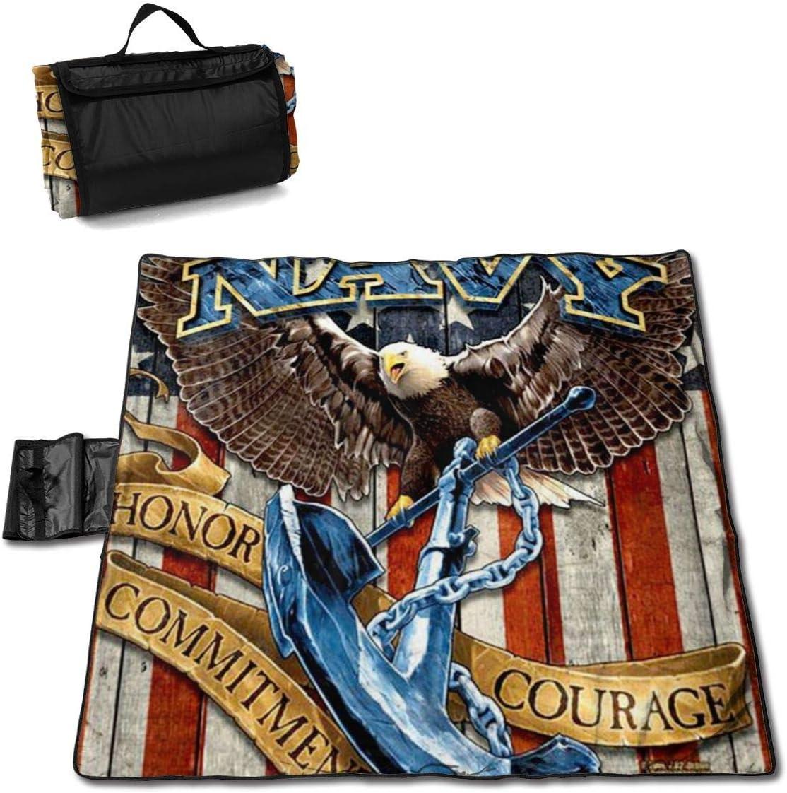 Manta de Picnic Manta de águila de la Marina de los Estados Unidos Manta de Playa portátil Americana Estera de Picnic para Viajes Camping Senderismo Pesca