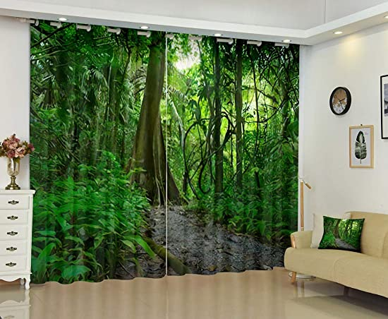 Deal of the week: THE MINI CRUSH Jungle Curtains,Forest Tropical Trees