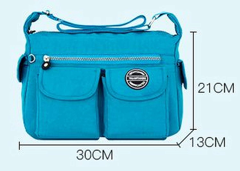 GFM® Vattentät Axelväska i nylon för kvinnor (NCB-5) S2-813-ghnl-mörkblå