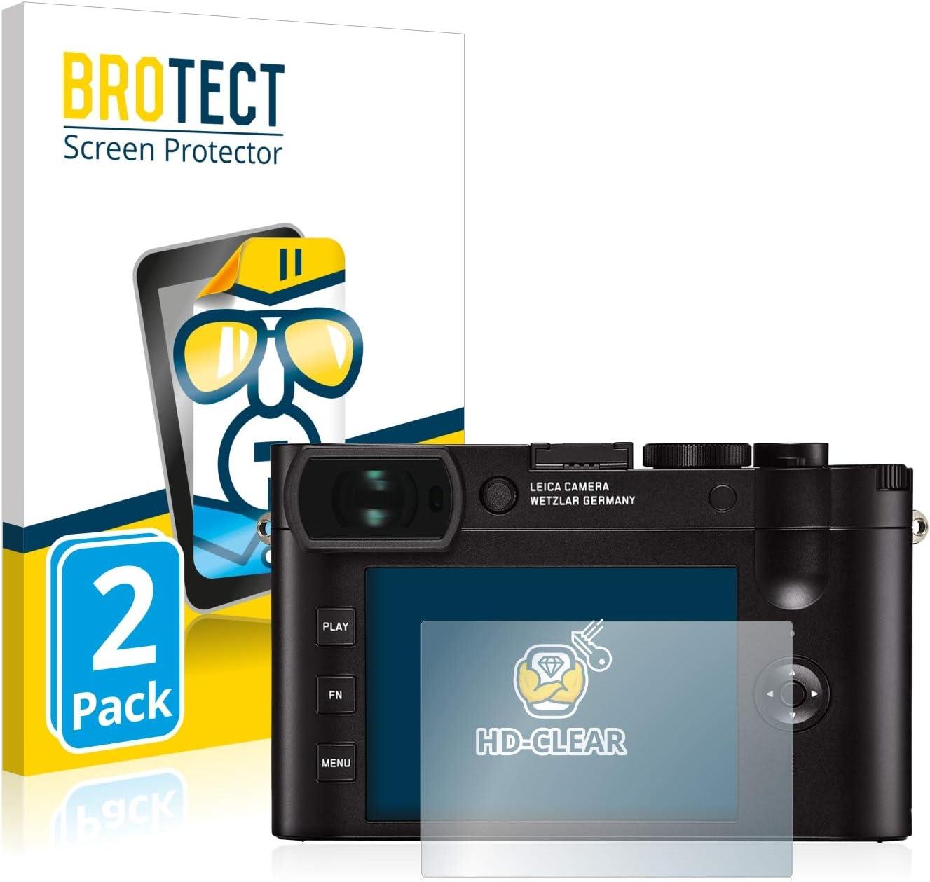 BROTECT Schutzfolie kompatibel mit Leica Q2 2 St/ück klare Displayschutz-Folie