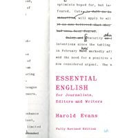 Essential English for Journalists, Editors and Writers (Pimlico Book 405)
