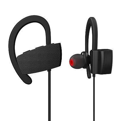 Bluetooth Headphones, Wiki VALLEY Wireless Sports Earphones Mic IPX7 Waterproof HD Stereo Sweatproof In Ear