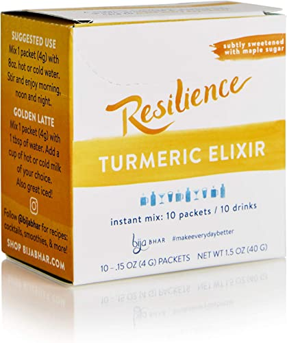 Bija Bhar Resilience Turmeric Elixir, Single Serve Packets, Box of 10