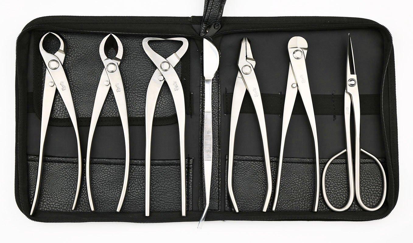 Master's Grade 7 PCS 8 inches Bonsai tool set (kit) JTTK-06B From TianBonsai