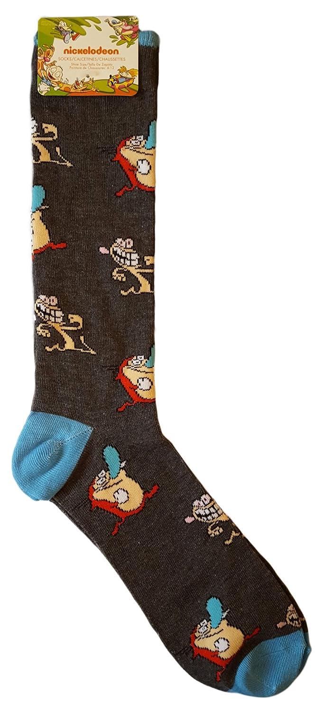 Amazon.com: Nickelodeon TV The Ren and Stimpy Show Novelty Crew Socks (Black): Clothing