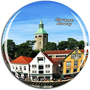 Weekino Norway Stavanger Cathedral Fridge Magnet 3D Crystal Glass Tourist City Travel Souvenir Collection Gift Strong Refrigerator Sticker