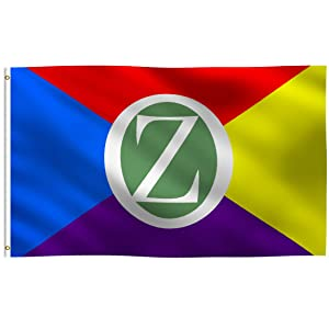 K-AXIS 3x5 Foot Land of Oz (The Wizard of Oz Inspired) Flag: 100% Polyester Banner, Strong Canvas Header with 2 Brass Grommets, UV Resistant Vibrant Digital Print, for Use Outdoor or Indoor