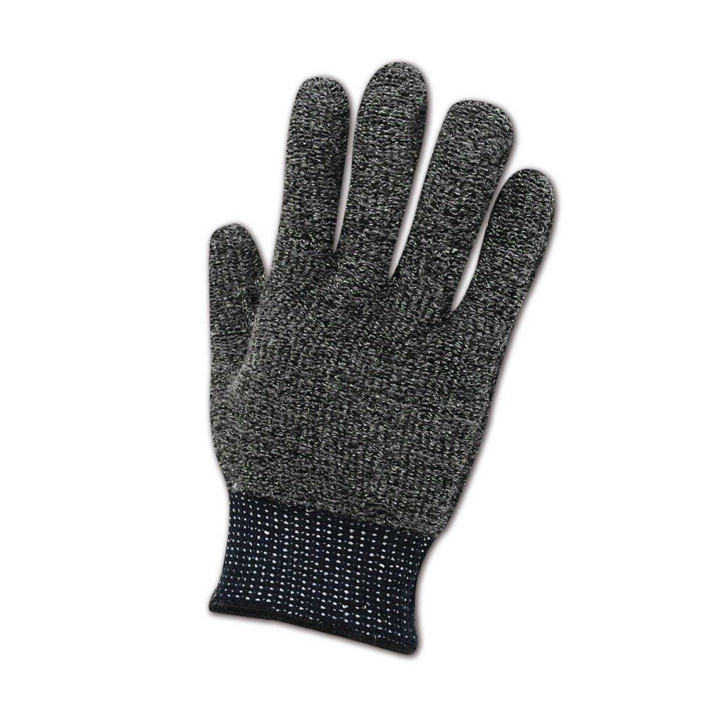 Magid Glove & Safety XKS400-10 Magid Cut Master XKS XKS400 Medium Weight XKS Loop-Out Terrycloth Gloves - Cut Level 4, Large, Black , 10 (Pack of 12)