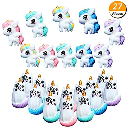 Amazon Com Partyyeah 27pcs Unicorn Cat Slime Charms Resin Flatback