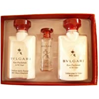 Eau Parfumée Au Thé Rouge Gift Set by Olivier Polge for Bvlgari for Men: 5ml Eau De Cologne , 40ml Body Lotion, 40ml After Shave Emulsion