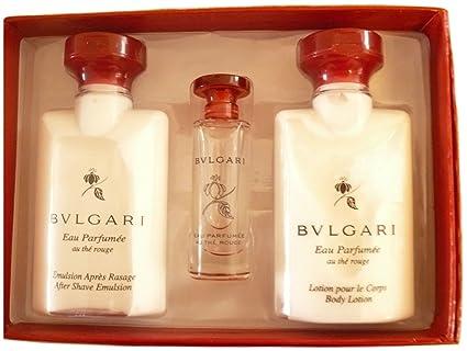 EAU parfumée AU thé Rouge Set de regalo por Olivier Polge De Bvlgari para hombres: