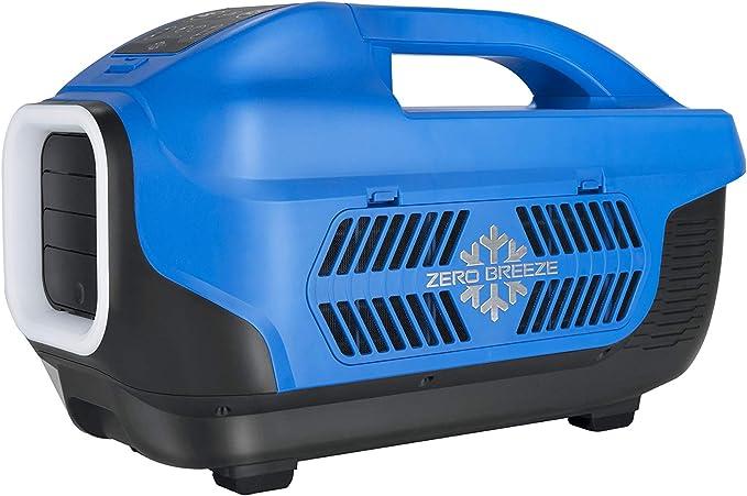 ZERO BREEZE Portable Air Conditioner,Outdoor Camping Tent Air Cooler 12V(AC/DC) Built-in Micro Compressor 1100 BTU