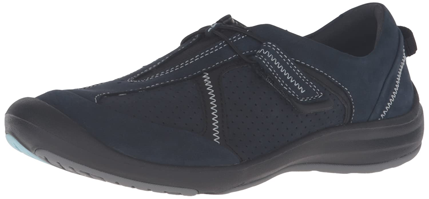 CLARKS Women's Asney Slipon Fashion Sneaker B0195GVBES 6.5 C/D US|Navy Nubuck