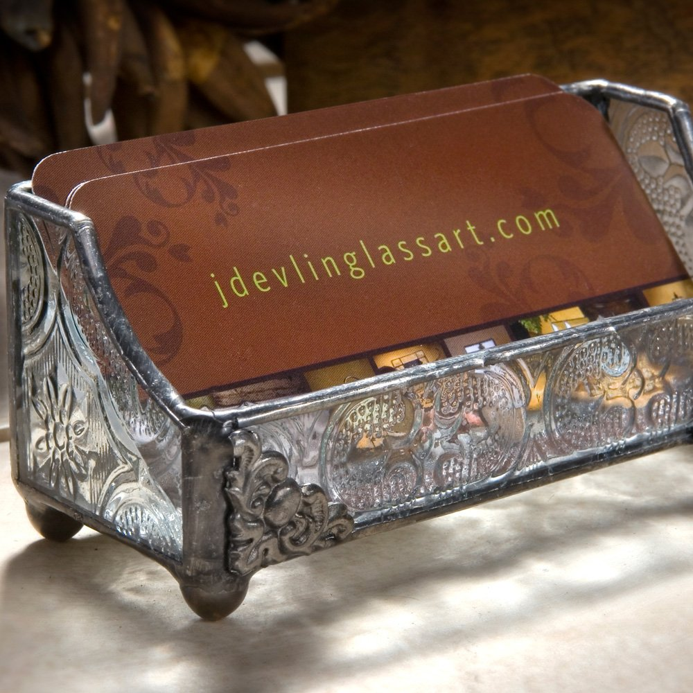 Amazon.com: J Devlin CRD 104 Stained Glass Business Card Holder ...