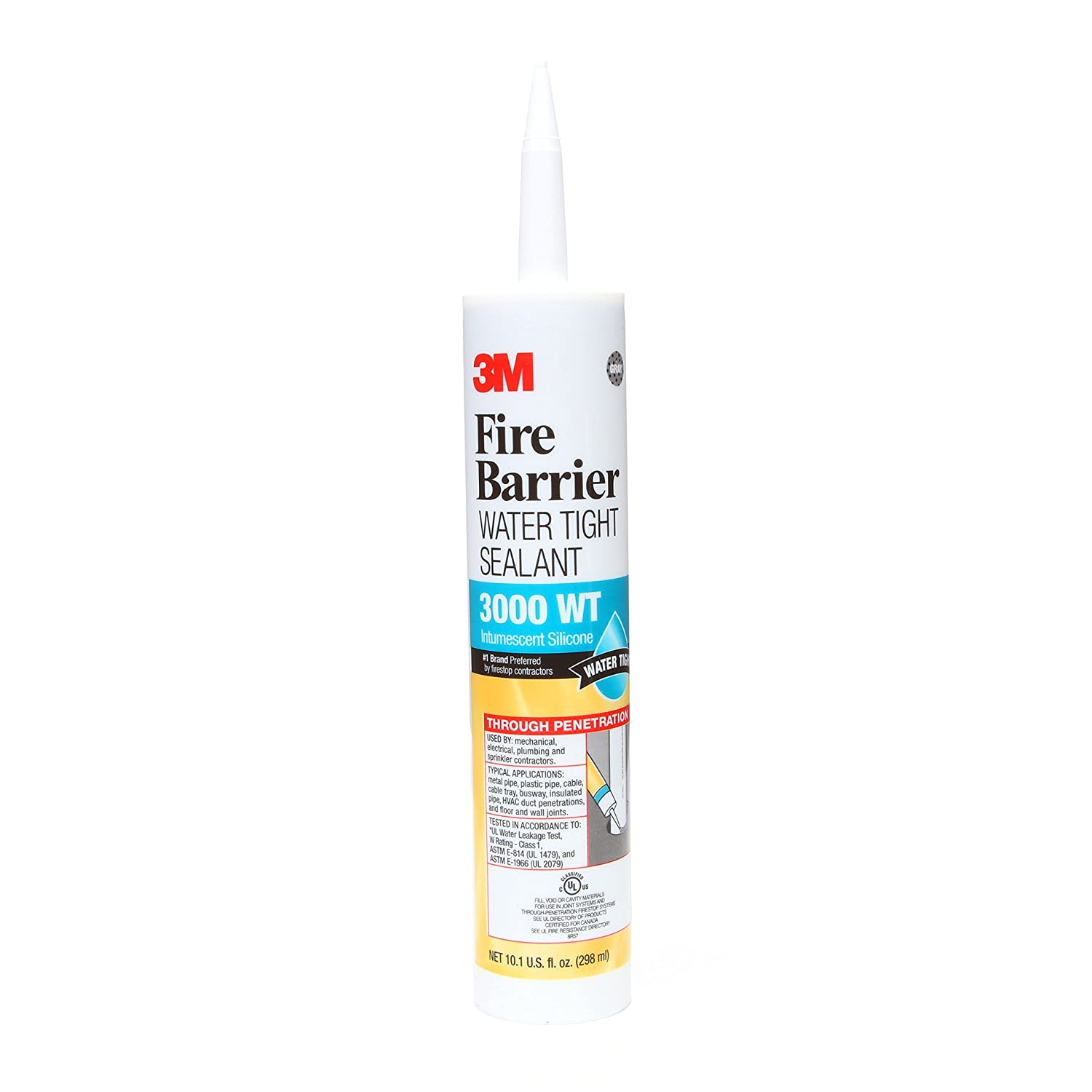 Image of 3M Fire Barrier Water Tight Sealant 3000 WT, Gray, 10.1 fl oz Cartridge Home Improvements