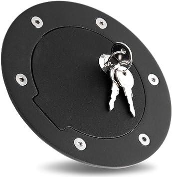 94-02 Dodge RAM Truck 2500+3500 Black Replacement Billet Gas Door Cover Lock+Key