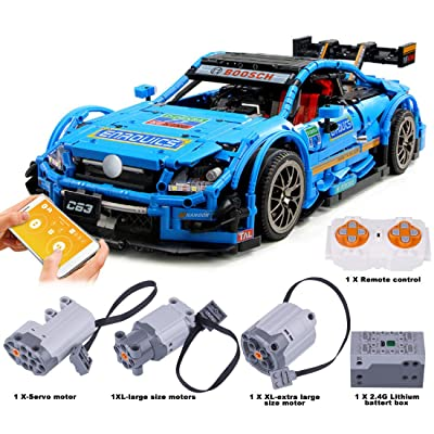 WOLFBSUH AMG C63 Race Car Building Set STEM Toy, 1989Pcs 1:8 2.4G Building Blocks and Engineering Toy Sports Car Model: Toys & Games [5Bkhe1104077]