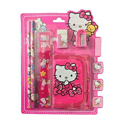 RIANZ Cartoon Character 5 In 1 Stationary Set Birthday Return Gift For Kids Hello Kitty