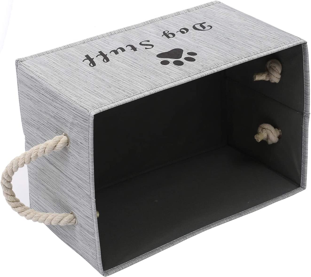 con Mango de Cuerda de algod/ón Xbopetda Organizador Grande de Tela para Perros Ropa de Perro Cesta de Cubo Plegable para Juguetes de Perro cestas de Regalo