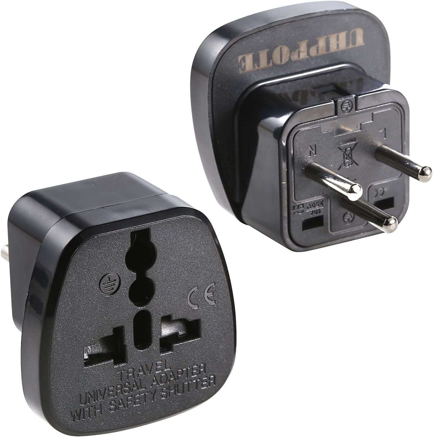 Type H Ground Travel Trip Journey Plug Adapter Adaptor For Israel Palestine West Bank Gaza Strip (pack Of 2) - -