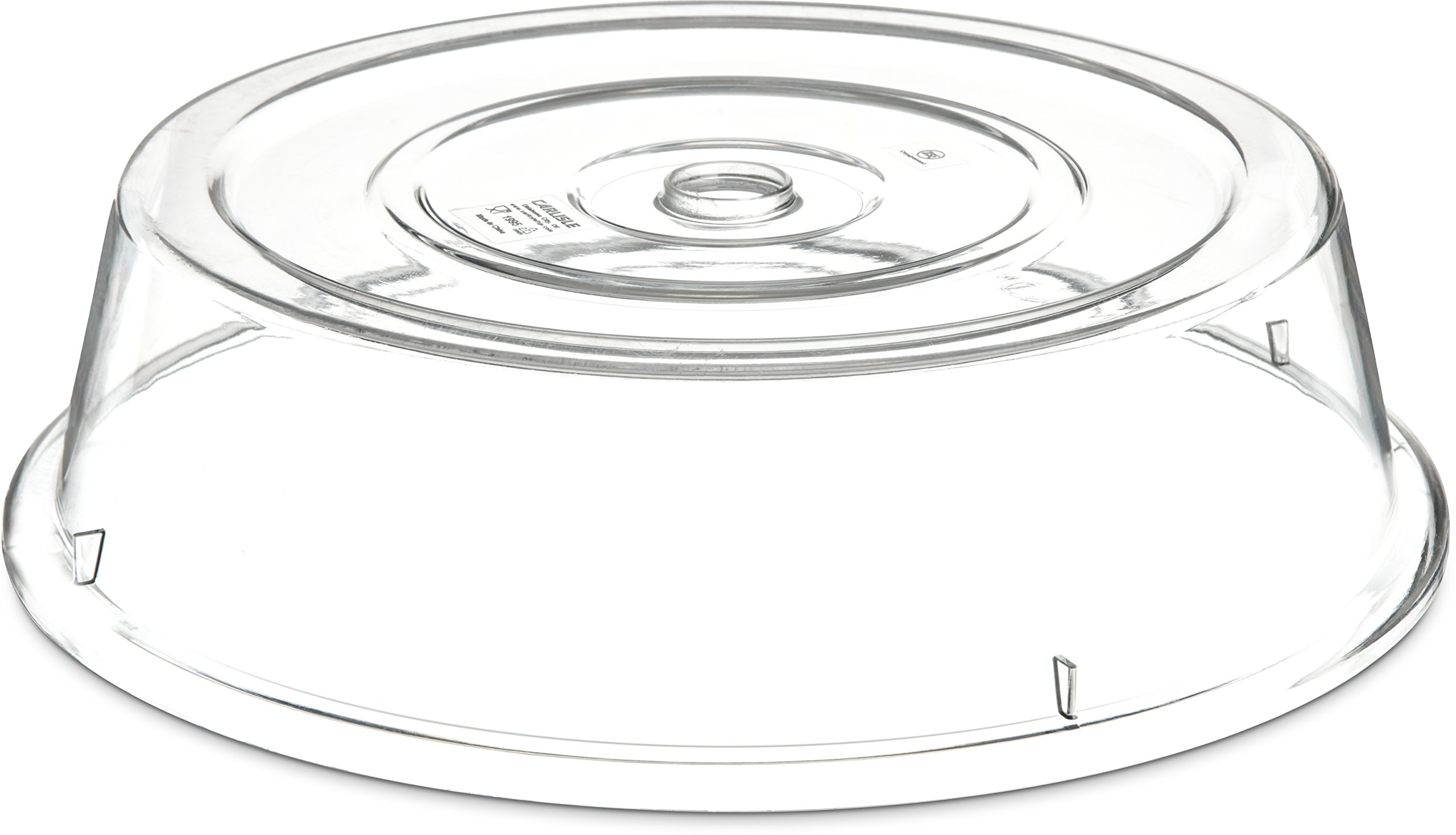 Carlisle 199407 Polycarbonate Plate Cover, 12'' Size, Clear (Case of 12)