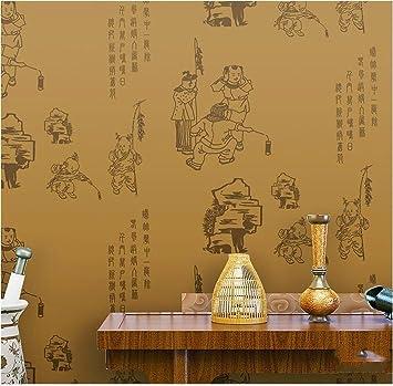 QXLML Neue Chinesische Tapeten Klassische Kalligraphie Junge Grüße ...