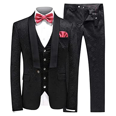 03d5b9ce075a MOGU Mens New Casual Slim Fit Skinny Dress Suits 3 Piece US Size 32 (Label