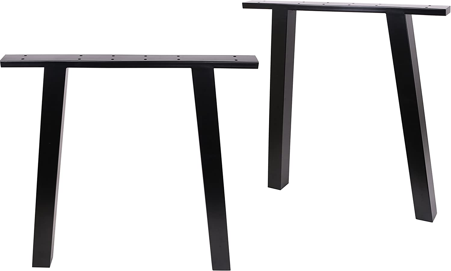 Amazon Com Eclv N 710 K Dining Table Legs Vintage Steel Table Legs Office Table Legs Computer Desk Legs Industrial Kitchen Table Legs 28 L Black Set Of 2 Home Improvement