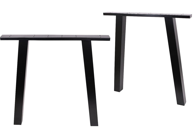 """ECLV 8"""" Dining Table Legs, Black Vintage Steel table legs, Office"""