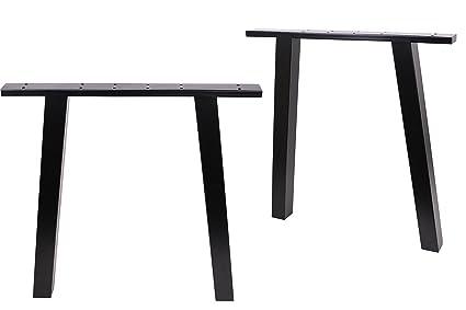 eclv 71,1 cm patas Mesa de comedor, color negro clásico patas patas ...