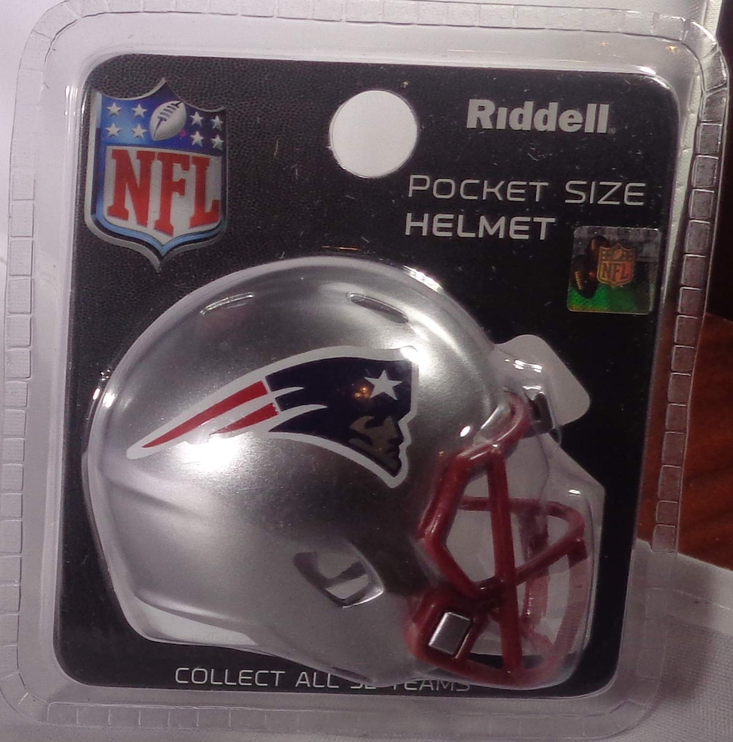 Riddell New England Patriots Originalnachbildung Speed Pocket Pro Micro/Kamerahandys/Mini Football Helm 095855320656