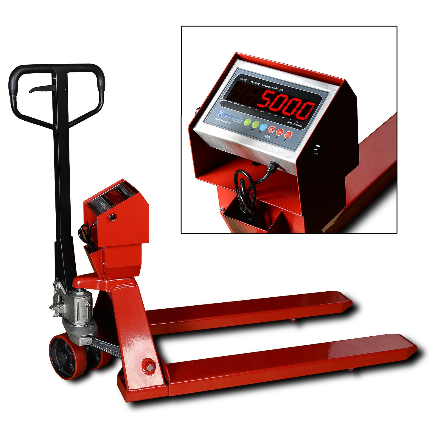 Prime Scale 5000lb/1lb Pallet Truck Scale | Pallet Jack Scale with Indicator