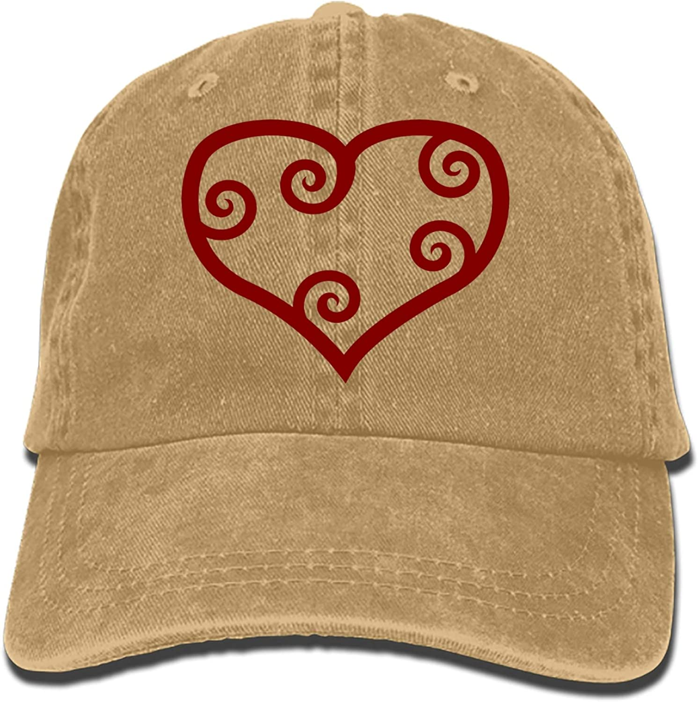 Heart Shapes Love Sign Maroon Red Fashion Vintage Cowboy Baseball Caps Trucker Hats