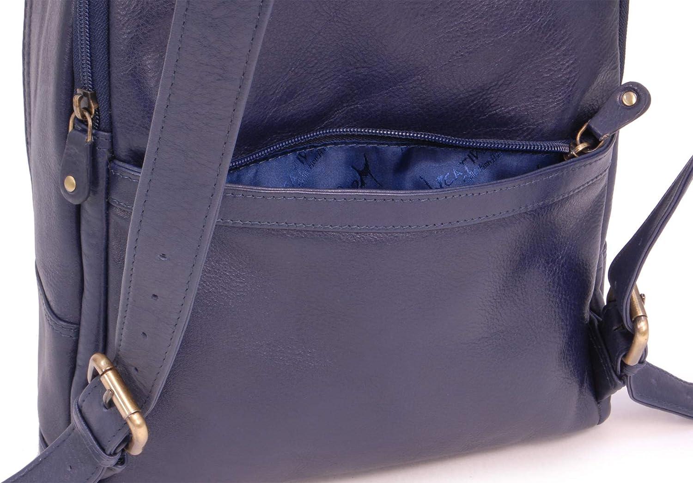 CATWALK COLLECTION Piel Vintage Mujer Bolso de MochilaHombroBolsa de ViajeBackpack Para iPadTablet Cuero FERN