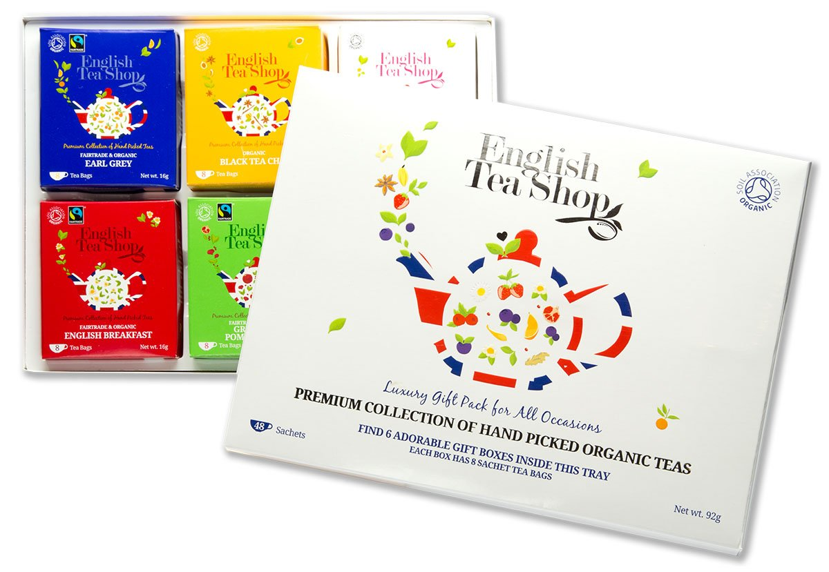 English Tea Shop Organic Luxury Gift Tray (Pack of 48 Tea Bags)