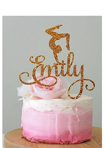 Amazoncom Personalised Gymnastics Cake Topper Gymnast Cake Topper