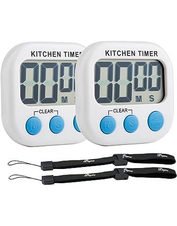 Digital temporizador de Cocina [2 Piezas], PEMOTech Magnético Temporizador con Cuenta atrás,