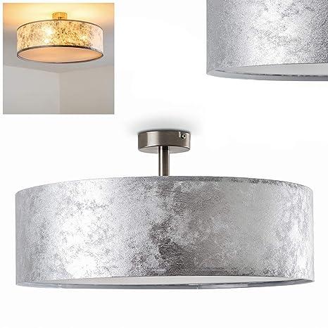Lámpara de techo Foggia color plateado, 50 cm, 3 x 40W max ...