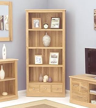 baumhaus mobel oak large 3 drawer bookcase baumhaus mobel oak large 6