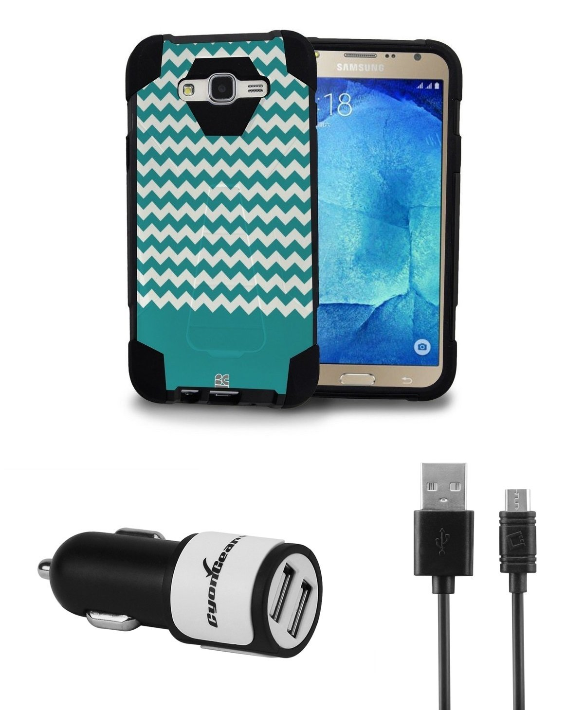 Samsung Galaxy J7 - Dual Armor carcasa con función atril ...