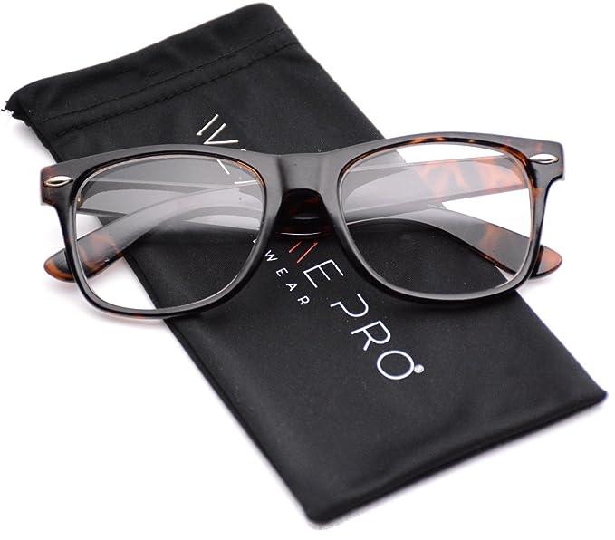 Amazon.com: Marco transparente anteojos nerd Claro lente ...